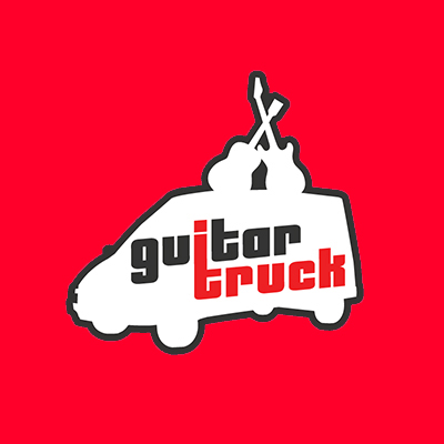 guitar truck red
